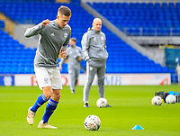 4th January 2020; Cardiff City Stadium, Cardiff, Glamorgan, Wales; English FA Cup Football, Cardiff City versus Carlisle; Will Vaulks of Cardiff City warms up before the match  - Strictly Editorial Use Only. No use with unauthorized audio, video, data, fixture lists, club/league logos or 'live' services. Online in-match use limited to 120 images, no video emulation. No use in betting, games or single club/league/player publications