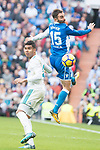 Real Madrid Carlos Henrique Casemiro and R.C. Deportivo Adrian Lopez during La Liga match between Real Madrid and R. C. Deportivo at Santiago Bernabeu Stadium in Madrid, Spain. January 18, 2018. (ALTERPHOTOS/Borja B.Hojas)