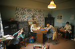 Home schooling Home teaching, children, siblings dont go to school but to their own school classroom in the family home. UK. Circa 1975