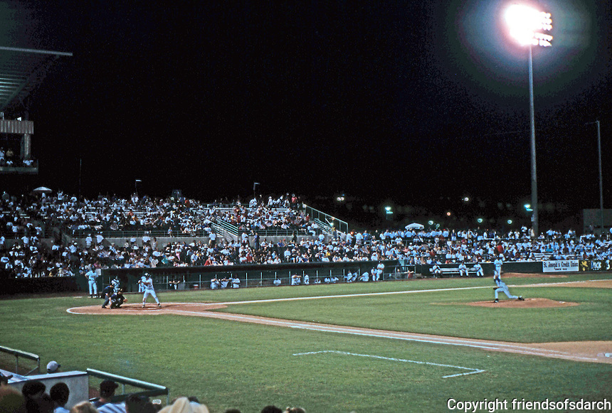 Ballparks: San Antonio Municipal Stadium--night game, 1996.
