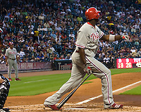 Howard, Ryan _6438.jpg Philadelphia Phillies at Houston Astros. Major League Baseball. September 7th, 2009 at Minute Maid Park in Houston, Texas. Photo by Andrew Woolley.