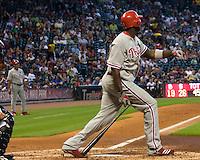 Howard, Ryan _6438.jpg Philadelphia Phillies at Houston Astros. Major League Baseball. September 7th, 2009 at Minute Maid Park in Houston, Texas. Photo by Andrew Woolley.