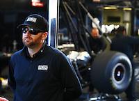 Feb 8, 2015; Pomona, CA, USA; NHRA top fuel driver Shawn Langdon during the Winternationals at Auto Club Raceway at Pomona. Mandatory Credit: Mark J. Rebilas-USA TODAY Sports