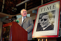 14/10/07 Taoiseach Bertie Ahern at the launch of Judging Dev a new book on the Life of Eamon De Valera, at the Royal Irish Academy, Dublin. Picture:Arthur Carron/Collins