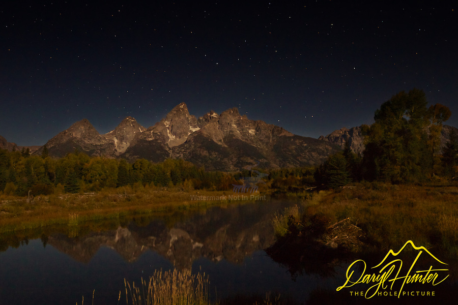 Midnight at Shwabacker Landing, Grand Teton National Park<br />