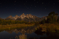 Midnight at Shwabacker Landing, Grand Teton National Park