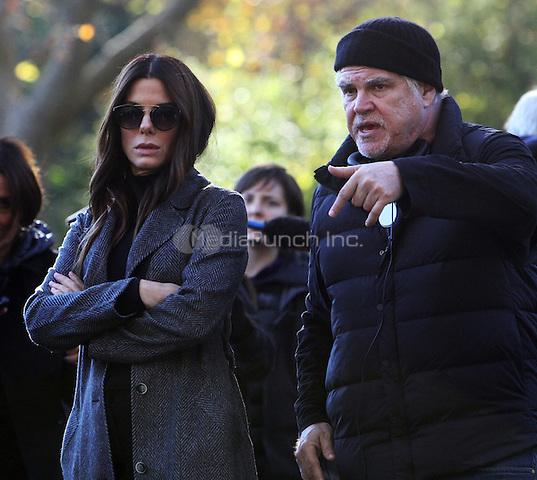 NEW YORK, NY November 07:Director Gary Ross, Sandra Bullock shooting on location for Ocean 8 in Central Park New York .November 07, 2016. Credit:RW/MediaPunch