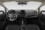 Stock photo of straight dashboard view of 2019 Ford Fiesta SE 4 Door Sedan Dashboard