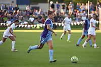 Kansas City, MO - Saturday May 28, 2016: Orlando Pride defender Stephanie Catley (7). FC Kansas City defeated Orlando Pride 2-0 during a regular season National Women's Soccer League (NWSL) match at Swope Soccer Village.