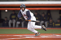 April 11, 2008:  University of Illinois Fighting Illini starting infielder Brandon Wikoff (12) against the University of Michigan Wolverines at Illinois Field in Champaign, IL.  Photo by:  Chris Proctor/Four Seam Images
