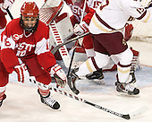 Rebecca Russo (BU - 18) -  The Boston College Eagles defeated the visiting Boston University Terriers 5-0 on BC's senior night on Thursday, February 19, 2015, at Kelley Rink in Conte Forum in Chestnut Hill, Massachusetts.
