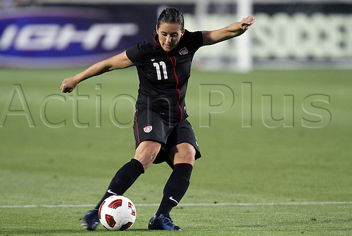 18.05.2011 Ali Krieger (USA). The United States Women's National Team defeated the Japan Women's National Team 2-0 at WakeMed Stadium in Cary, North Carolina as part of preparations for the 2011 Women's World Cup.