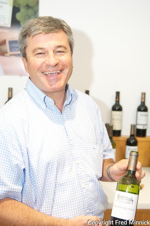 Roland Quancard is the CEO of Cheval Quancard, a negociant house. Its wines include Chai de Bordes, Cheval Quancard Reserve, Cuvee Clemence, Lise de Bordeaux, Chateau Tour Chapoux, Chateau de Terrefort-Quancard, Chateau de Paillet-Quancard, Chateau Bonfort (Saint-Emilion), Chateau Haut-Logat and Chateau Cossieu Coutelin.