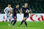 FC Kitchee Defender Krisztin Vadocz (r) looks to bring the ball down during the AFC Champions League 2017 Preliminary Stage match between  Kitchee SC (HKG) vs Hanoi FC (VIE) at the Hong Kong Stadium on 25 January 2017 in Hong Kong, China. Photo by Marcio Rodrigo Machado / Power Sport Images