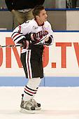Chris Student (NU - 3) - The Northeastern University Huskies defeated the Bentley University Falcons 3-2 on Friday, October 16, 2009, at Matthews Arena in Boston, Massachusetts.