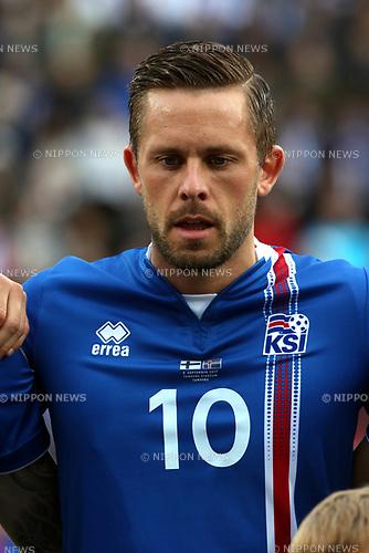 2.9.2017, Ratina Stadion, Tampere, Finland.<br /> FIFA World Cup 2018 Qualifying match, Finland v Iceland.<br /> Gylfi Sigurdsson - Iceland