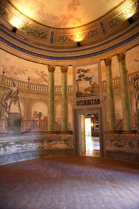 Hallway entrance Interior of Baroque Villa Palagonia - Baghera Sicily Pictures, photos, images & fotos