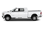 Car driver side profile view of a 2019 Ram 2500 Laramie 4 Door Pick Up