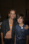 """Marlee Matlin is a presenter who poses with Garrett Ryan at the gifting suite (they did a movie together """"Sweet Nothing in My Ear"""" at the 38th Annual Daytime Entertainment Emmy Awards 2011 held on June 19, 2011 at the Las Vegas Hilton, Las Vegas, Nevada. (Photo by Sue Coflin/Max Photos)"""