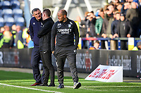 Blackburn Rovers manager Tony Mowbray has words with fourth official Ross Joyce<br /> <br /> Photographer Alex Dodd/CameraSport<br /> <br /> The EFL Sky Bet Championship - Preston North End v Blackburn Rovers - Saturday 26th October 2019 - Deepdale Stadium - Preston<br /> <br /> World Copyright © 2019 CameraSport. All rights reserved. 43 Linden Ave. Countesthorpe. Leicester. England. LE8 5PG - Tel: +44 (0) 116 277 4147 - admin@camerasport.com - www.camerasport.com
