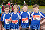 Tralee Harriers runners Cian Caplis, Sam fitzgerald, Peter Griffin and Jack Barrett who participated  in the County Championships in Castleisland on Saturday