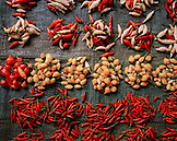 PERU, Amazon Rainforest, Belen, South America, Latin America, close-up of assorted Peppers for sale at Belen Market