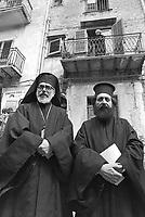 - Plain of the Albanian, celebrations of the Easter, Christian orthodox priests  (April 1983)....- Piana degli Albanesi, celebrazioni della Pasqua, sacerdoti cristiani ortodossi  (aprile 1983)..