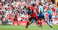 Liverpool 27-08-2017 Anfield  <br /> Football - 2017 / 2018 Premier League - Liverpool vs. Arsenal Roberto Firmino of Liverpool scoring the first goal at Anfield. COLORSPORT/LYNNE CAMERON/IMAGO/Insidefoto