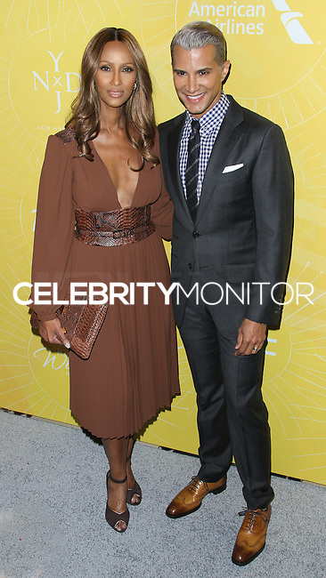 NEW YORK CITY, NY, USA - APRIL 25: Iman, Jay Manuel at the 2014 Variety Power Of Women: New York Luncheon held at Cipriani 42nd Street on April 25, 2014 in New York City, New York, United States. (Photo by Jeffery Duran/Celebrity Monitor)