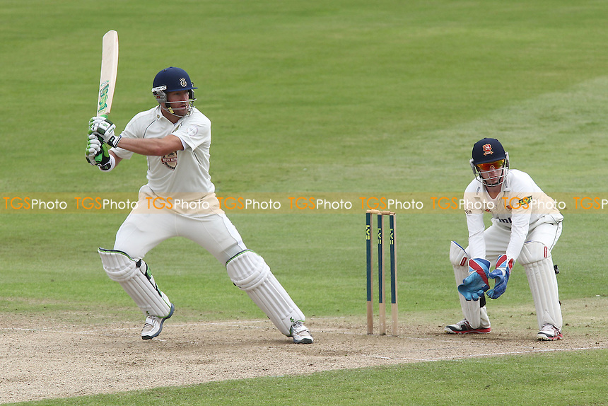 Sean Ervine in batting action for Hampshire as Adam Wheater looks on - Essex CCC vs  Hampshire CCC - LV County Championship Division Two Cricket at the Ford County Ground, Chelmsford, Essex - 19/07/12 - MANDATORY CREDIT: Gavin Ellis/TGSPHOTO - Self billing applies where appropriate - 0845 094 6026 - contact@tgsphoto.co.uk - NO UNPAID USE.