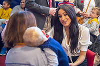 06/11/2019 - Meghan Markle Duchess of Sussex, speaking to members of the families of serving soldiers, during a visit to Broom Farm Community Centre in Windsor. The Duke and Duchess of Sussex attended a coffee morning with families of deployed Army personnel at the Centre. Photo Credit: ALPR/AdMedia