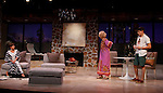 """As The World Turns' Colleen Zenk stars along with the cast - Peggy J. Scott and Davy Raphaely in """"Other Desert Cities"""" at the tech rehearsal (in costume) on October 14, 2015 at Whippoorwill Halll Theatre, North Castle Library, Kent Place, Armonk, New York.  (Photo by Sue Coflin/Max Photos)"""