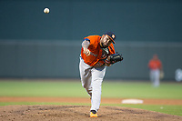 Buies Creek Astros starting pitcher Yoanys Quiala (52) delivers a pitch to the plate against the Winston-Salem Dash at BB&T Ballpark on April 15, 2017 in Winston-Salem, North Carolina.  The Astros defeated the Dash 13-6.  (Brian Westerholt/Four Seam Images)
