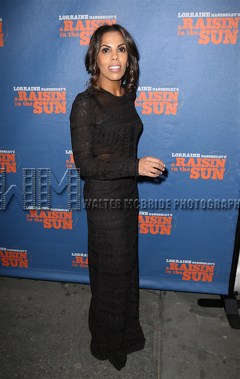 Aonika Laurent Thomas attending the Broadway Opening Night Performance of 'A Raisin In The Sun'  at the Barrymore Theatre on April 3, 2014 in New York City.