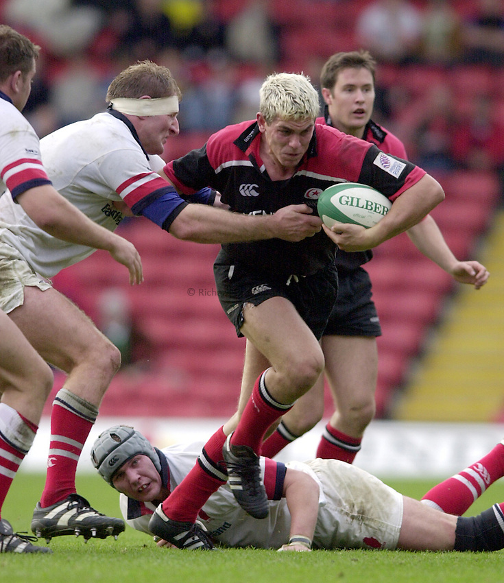 Photo. Richard Lane. .Heineken European Cup .Saracens v Ulster. Vicarage Road. 15.10.2000.Ben Johnston