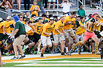 Baylor Bears fans in action during the game between the Southern Methodist Mustangs and the Baylor Bears at the McLane Stadium in Waco, Texas. Baylor leads SMU 31 to 0 at halftime.