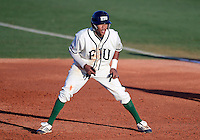 Florida International University infielder Julius Gaines (2) plays against Florida Atlantic University. FAU won the game 9-5 on March 17, 2012 at Miami, Florida.
