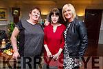 Sheila Trant (Listellick),  Madeline Mahony and Debbie Gargan enjoying the evening in the Meadowlands Hotel on Saturday night