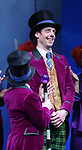 Jake Ryan Flynn and Christian Borle during the Broadway Opening Performance Curtain Call of 'Charlie and the Chocolate Factory' at the Lunt-Fontanne Theatre on April 23, 2017 in New York City.