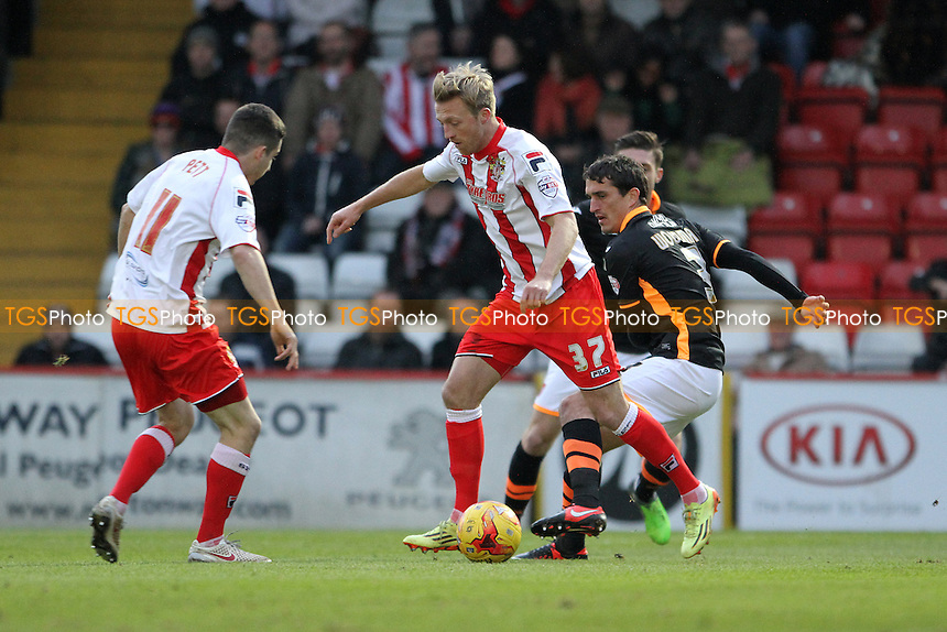 Lee Barnard of Stevenage runs with the ball - Stevenage vs Exeter City - Sky Bet League Two Football at the Lamex Stadium, Broadhall Way, Stevenage, Hertfordshire - 20/12/14 - MANDATORY CREDIT: Mick Kearns/TGSPHOTO - Self billing applies where appropriate - contact@tgsphoto.co.uk - NO UNPAID USE