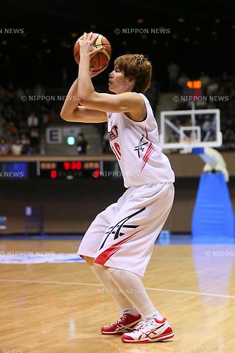 Ramu Tokashiki (JPN), <br /> JUNE 30, 2013 - Basketball : <br /> International Basketball Japan Games 2013 <br /> between Japan Women's 78-61 Mozambique Women's <br /> at 2nd Yoyogi Gymnasium, Tokyo, Japan. <br /> (Photo by YUTAKA/AFLO SPORT)