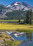 Deschutes National Forest, OR<br /> Sparks Lake with reflections of South Sister Mountain