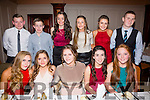 Pictured at the South & Mid Kerry Rowing Social in the Ring of Kerry hotel on Saturday night were front l-r; Cliodhna Guiney, Caoimhe O'Shea, Katie Trew, Sarah McCarthy, Sarah Landers, back l-r; Ben O'Carroll, Donagh Quinlan, Lydia Clem-O'Sullivan, Katelyn O'Donoghue, Amy Sugrue & Cathal O'Sullivan.