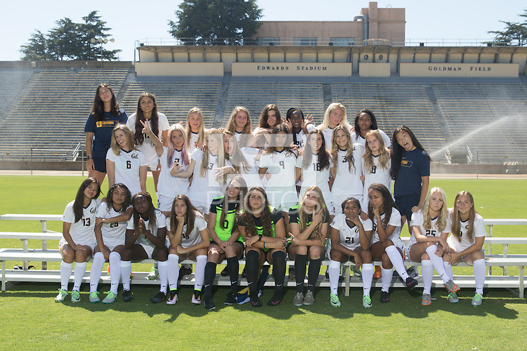 Berkeley, Ca - August 7, 2016: Cal Womens Soccer 2016 Team Photo.
