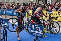 Sisone of New Zealand during the 2017 Madrid ITU Triathlon World Cup in Madrid, May 28, 2017. Spain.. (ALTERPHOTOS/Rodrigo Jimenez) /NortePhoto.com