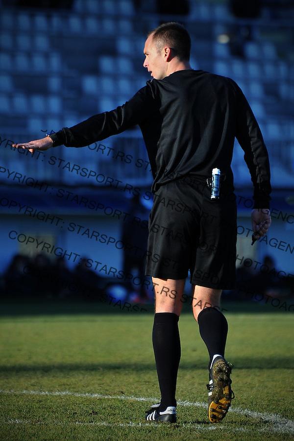 Fudbal Jelen Super League season 2016-2017<br /> Novi Pazar v Spartak<br /> Glavni sudija na mecu Srdjan Jovanovic<br /> Novi Pazar, 4. 12. 2016<br /> foto: Emir Sadovic/Starsportphoto &copy;
