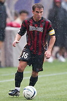 Andy Williams of the MetroStars during the rain.The Chicago Fire defeated the NY/NJ MetroStars 3-2 on 6/14/03 at Giant's Stadium, NJ..