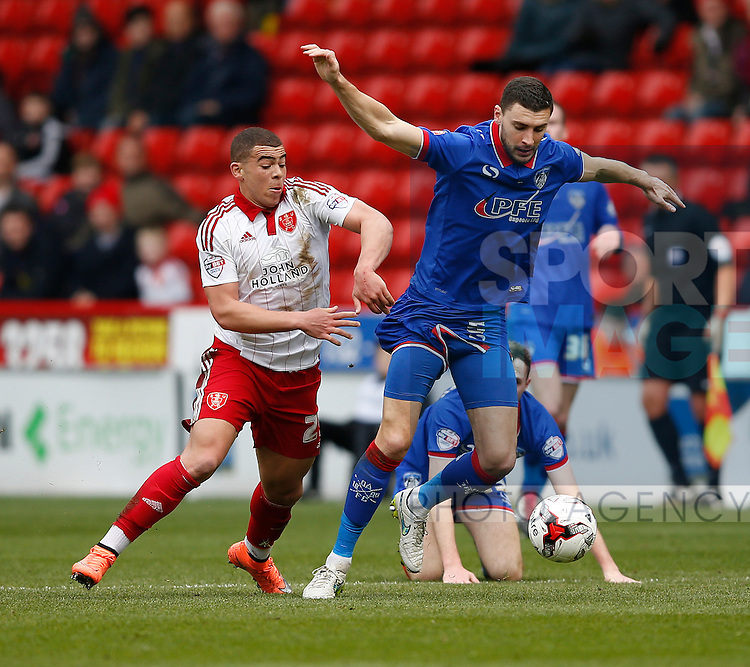 Che Adams of Sheffield Utd in action during the Sky Bet League One match at The Bramall Lane Stadium.  Photo credit should read: Simon Bellis/Sportimage