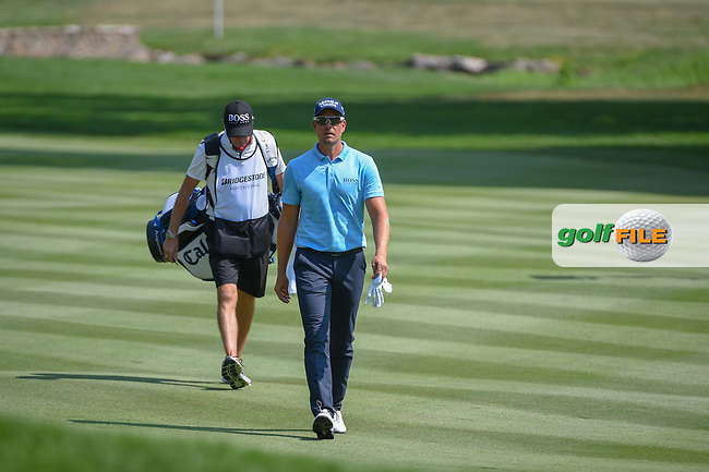 Henrik Stenson (SWE) makes his way down 1 during 4th round of the World Golf Championships - Bridgestone Invitational, at the Firestone Country Club, Akron, Ohio. 8/5/2018.<br /> Picture: Golffile | Ken Murray<br /> <br /> <br /> All photo usage must carry mandatory copyright credit (© Golffile | Ken Murray)