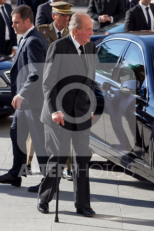 Spain King Juan Carlos I attends the 11M March 11, 2004 terrorist attempt remember mass at Almudena Cathedral in Madrid, Spain. March 11, 2014. (ALTERPHOTOS/Victor Blanco)